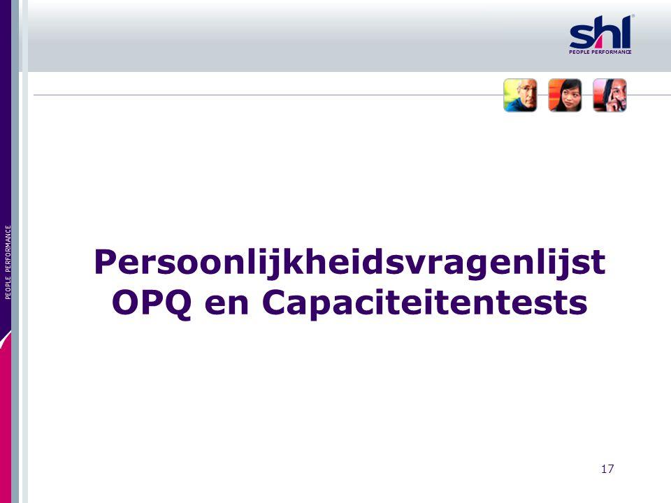 Persoonlijkheidsvragenlijst OPQ en Capaciteitentests