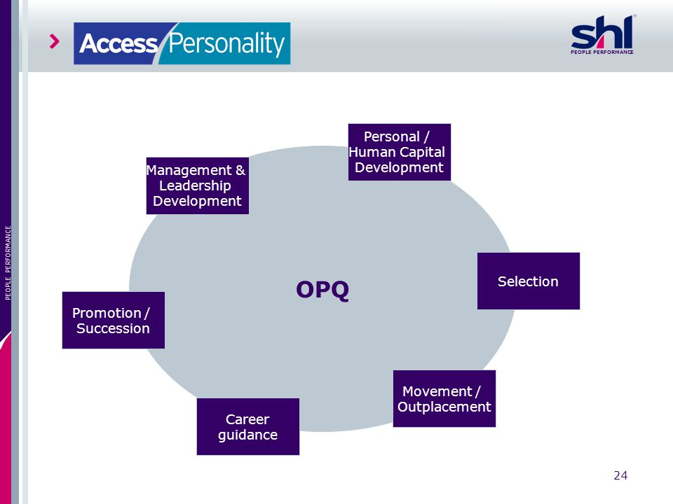 OPQ Personal / Human Capital Management & Leadership Development