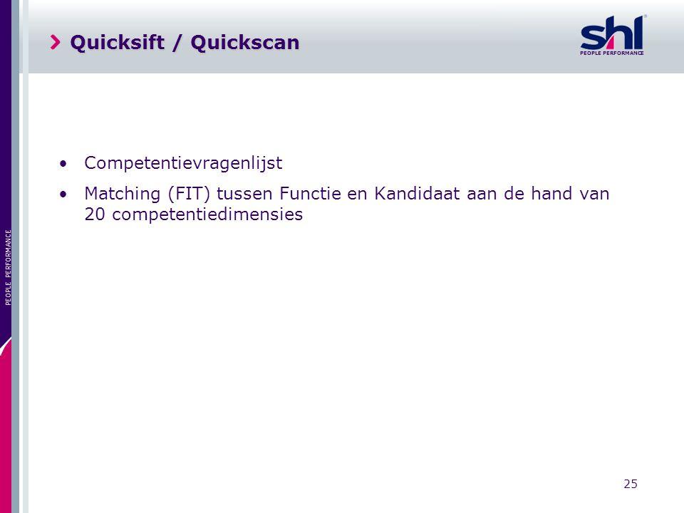 Quicksift / Quickscan Competentievragenlijst