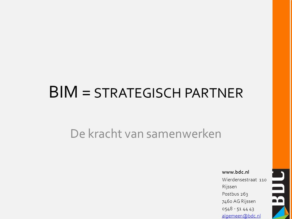 BIM = strategisch partner