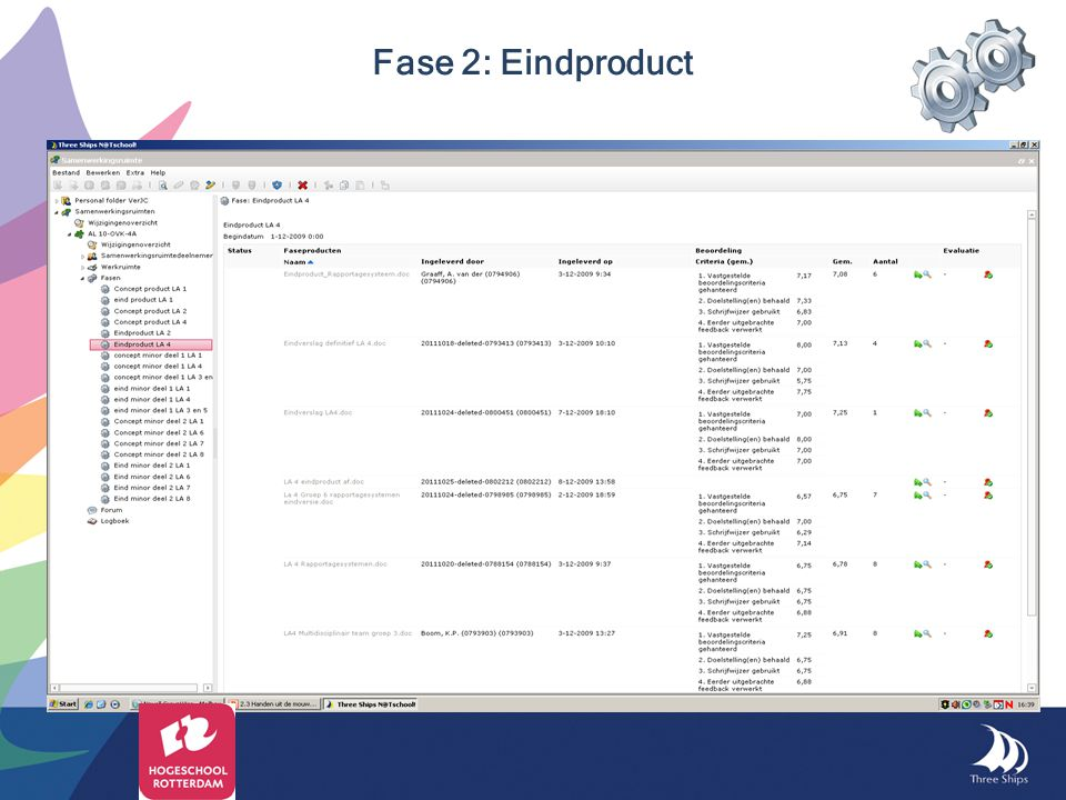 Fase 2: Eindproduct