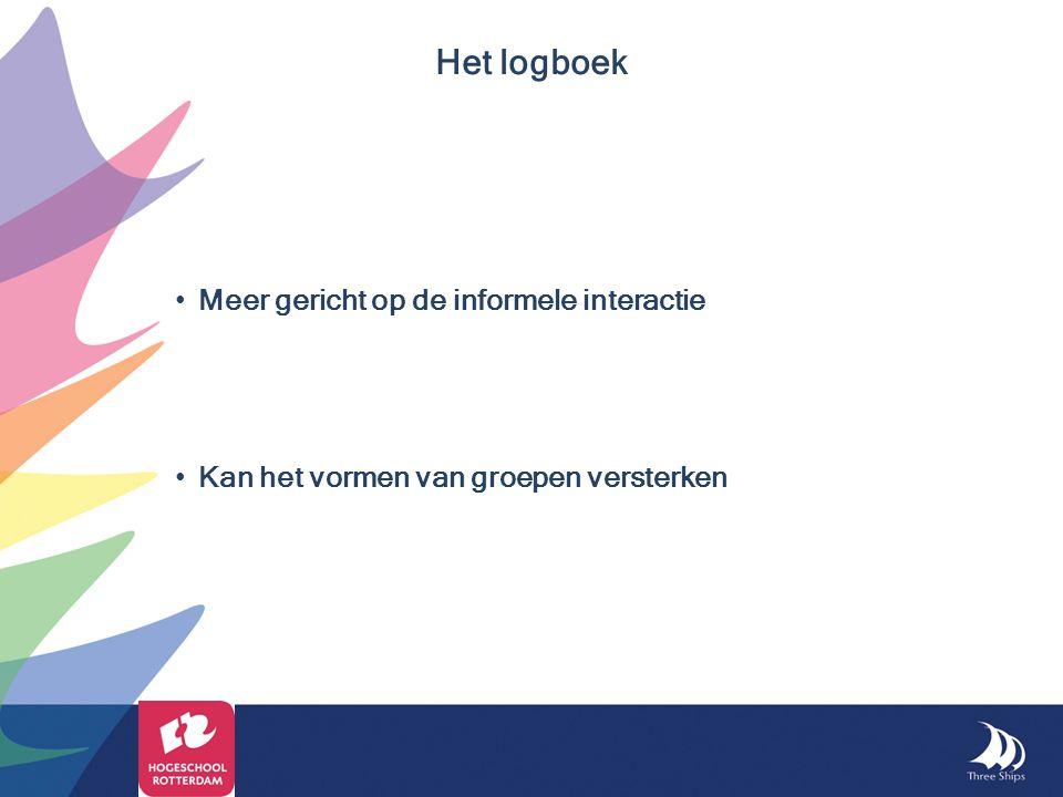 Het logboek Meer gericht op de informele interactie