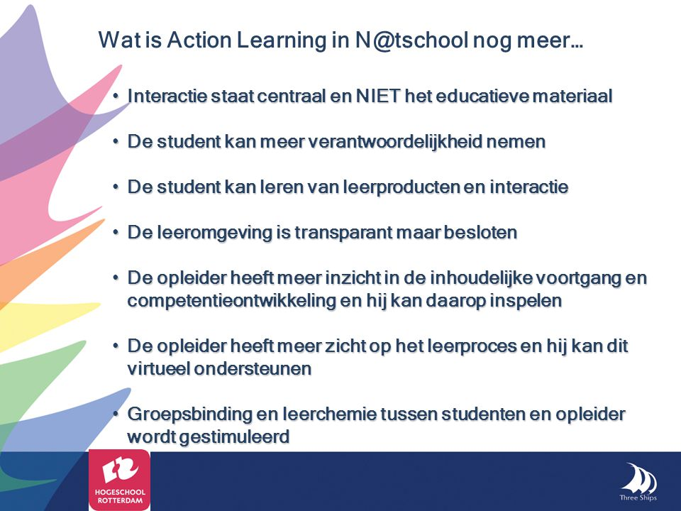 Wat is Action Learning in N@tschool nog meer…