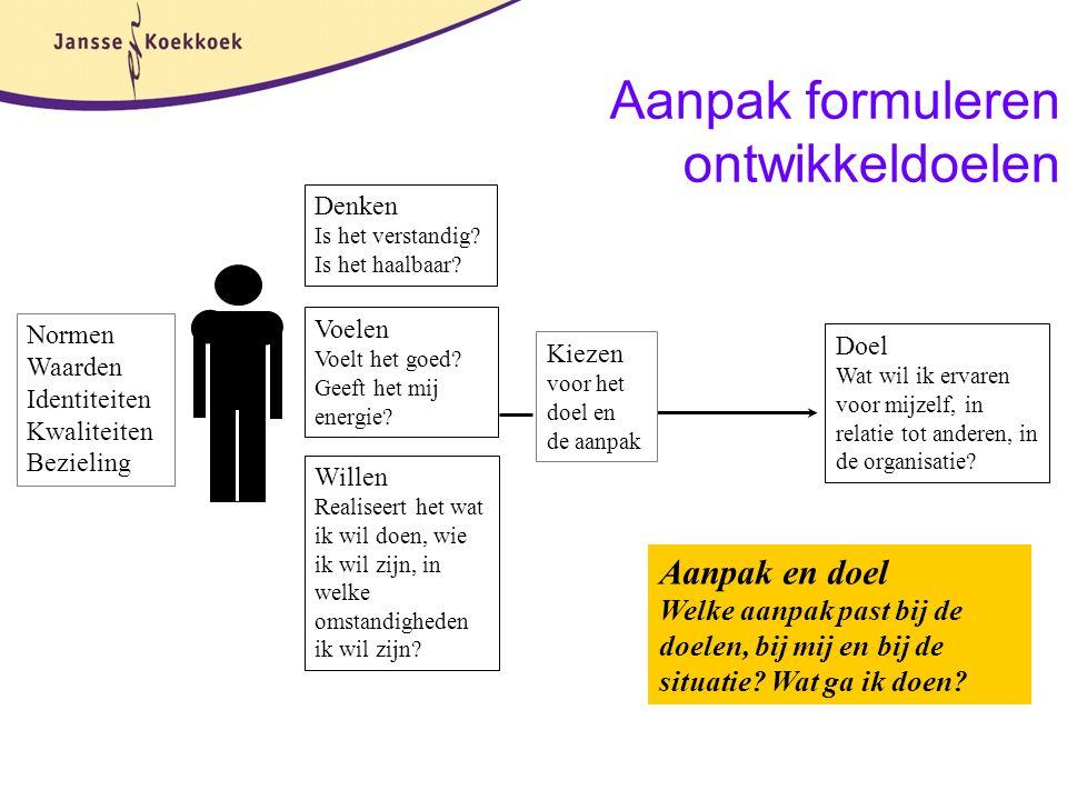 Aanpak formuleren ontwikkeldoelen