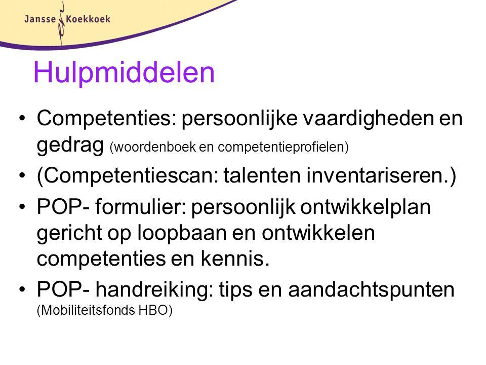 Hulpmiddelen Competenties: persoonlijke vaardigheden en gedrag (woordenboek en competentieprofielen)