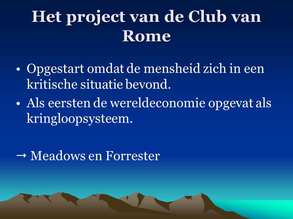 Het project van de Club van Rome