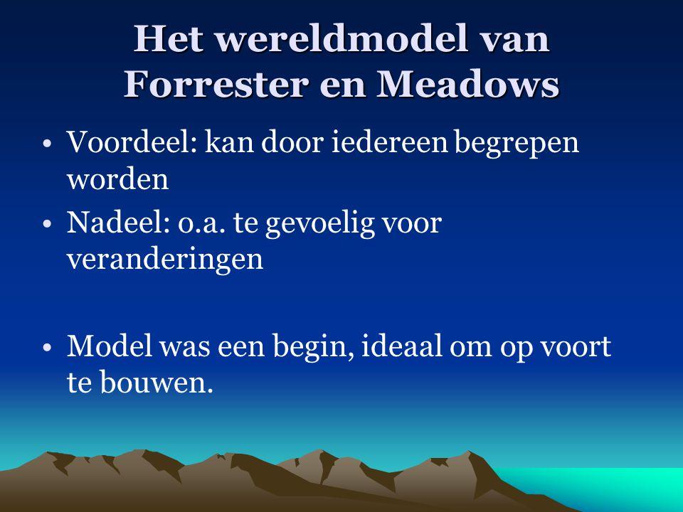 Het wereldmodel van Forrester en Meadows