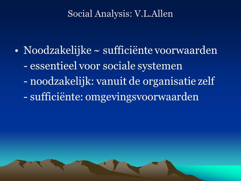 Social Analysis: V.L.Allen