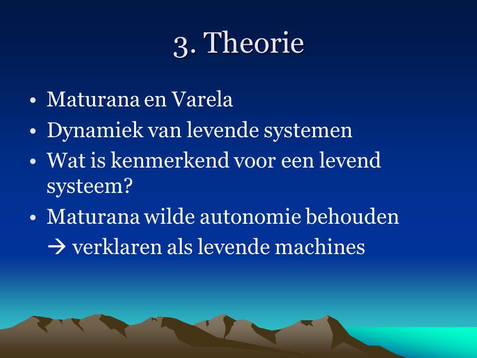 3. Theorie Maturana en Varela Dynamiek van levende systemen