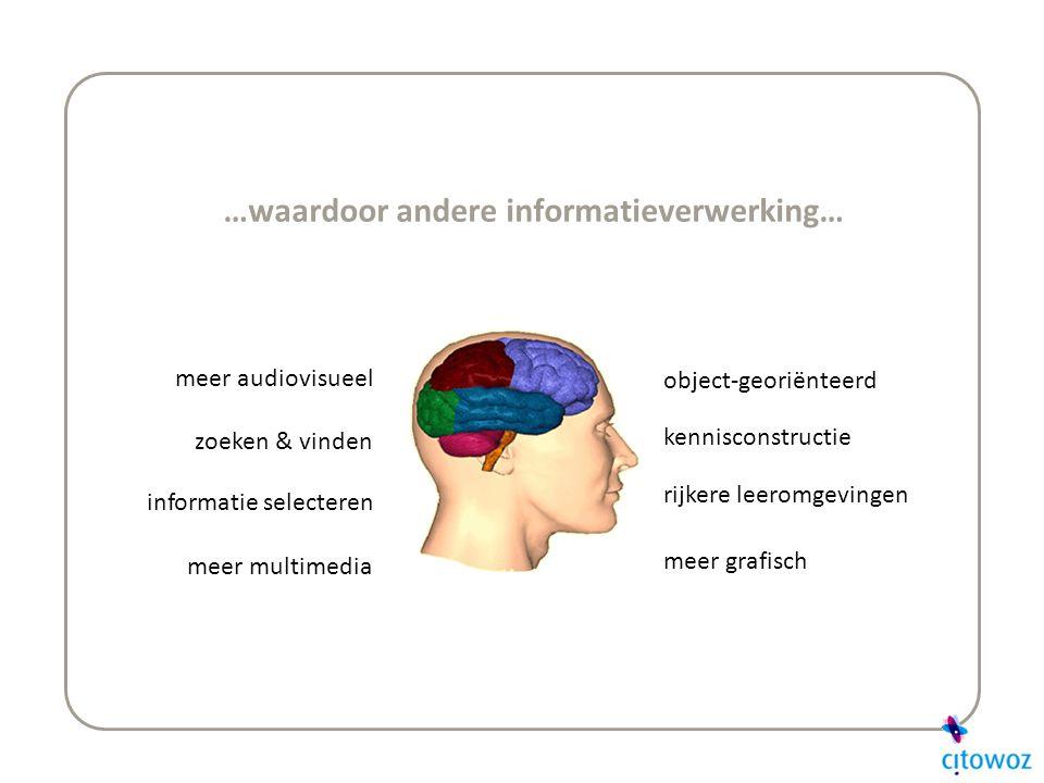 …waardoor andere informatieverwerking…