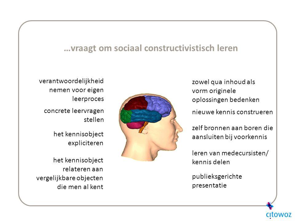 …vraagt om sociaal constructivistisch leren