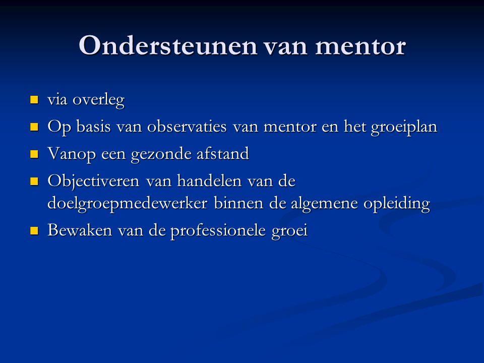 Ondersteunen van mentor