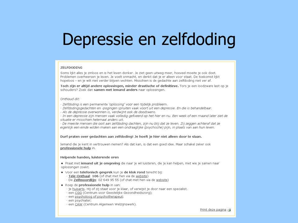 Depressie en zelfdoding