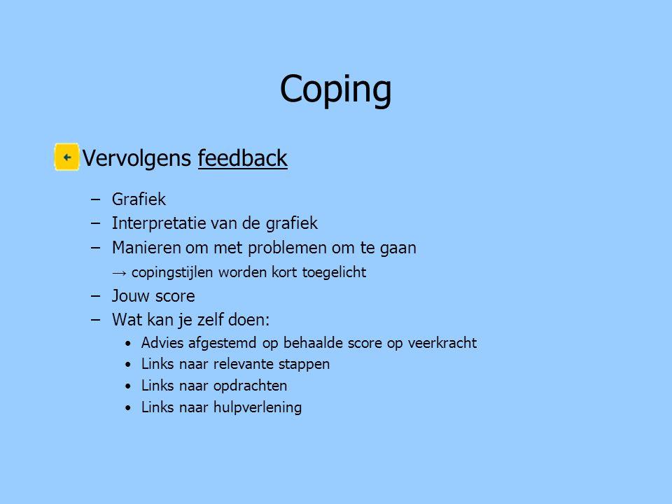 Coping Vervolgens feedback Grafiek Interpretatie van de grafiek