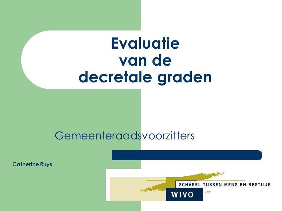 Evaluatie van de decretale graden