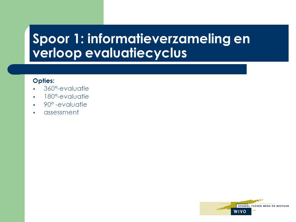 Spoor 1: informatieverzameling en verloop evaluatiecyclus