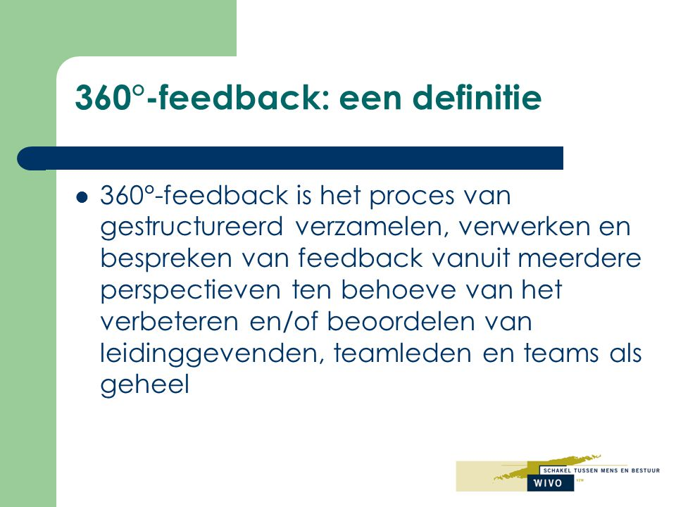 360°-feedback: een definitie