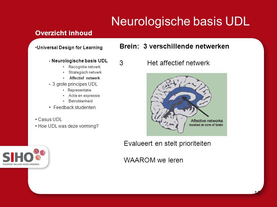 Neurologische basis UDL