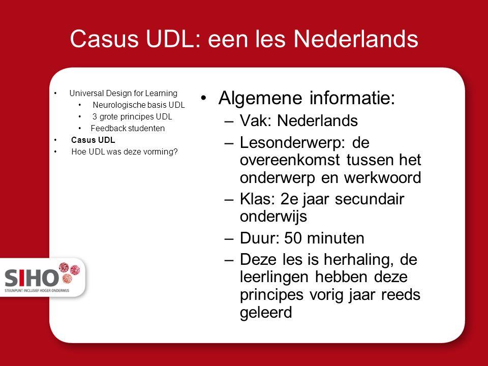Casus UDL: een les Nederlands