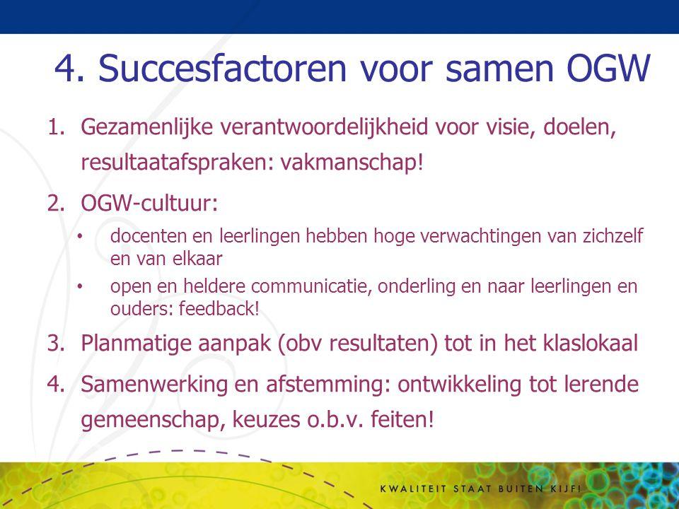 4. Succesfactoren voor samen OGW
