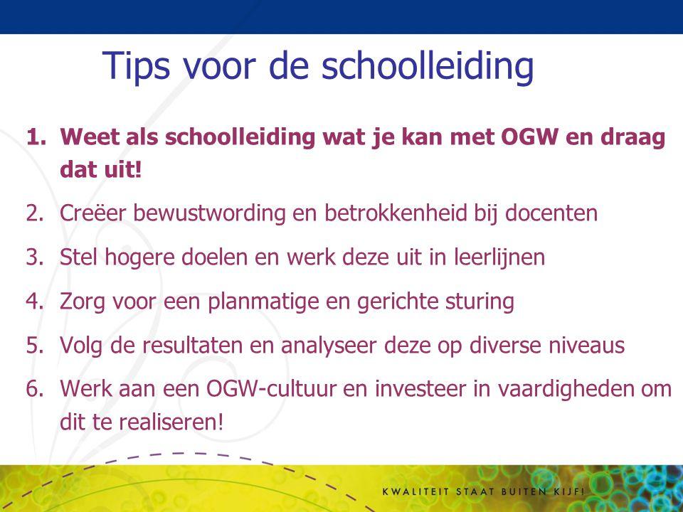 Tips voor de schoolleiding