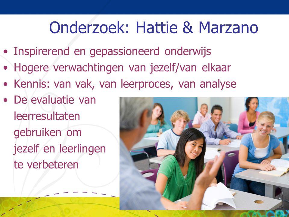 Onderzoek: Hattie & Marzano