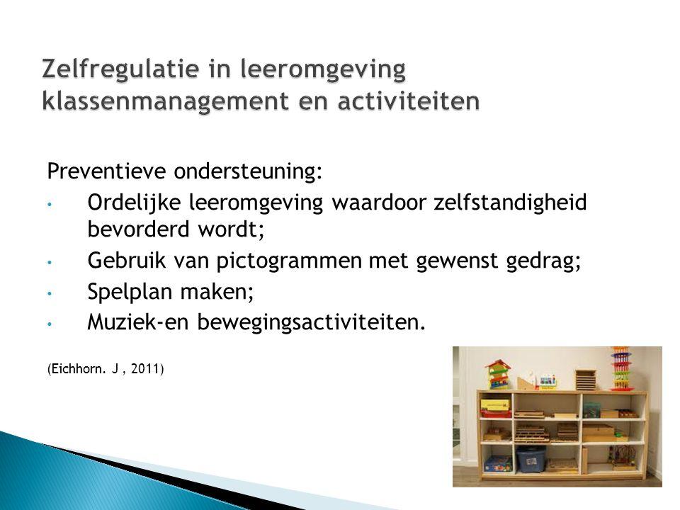 Zelfregulatie in leeromgeving klassenmanagement en activiteiten