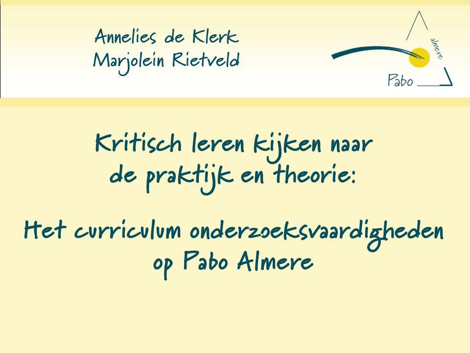 Kritisch leren kijken naar de praktijk en theorie: