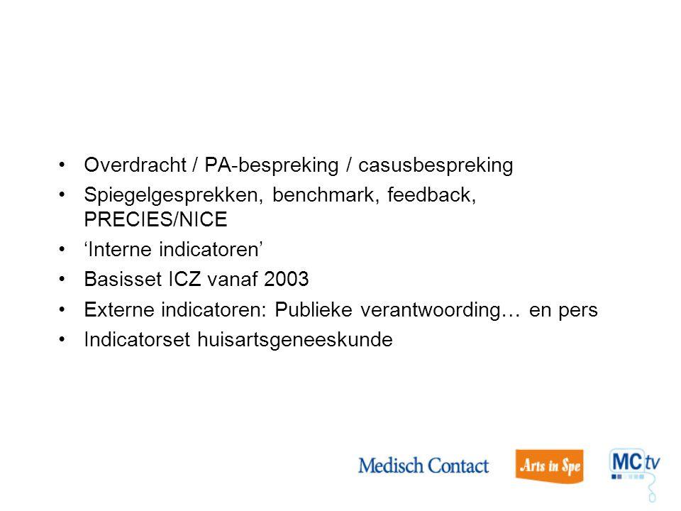 Overdracht / PA-bespreking / casusbespreking