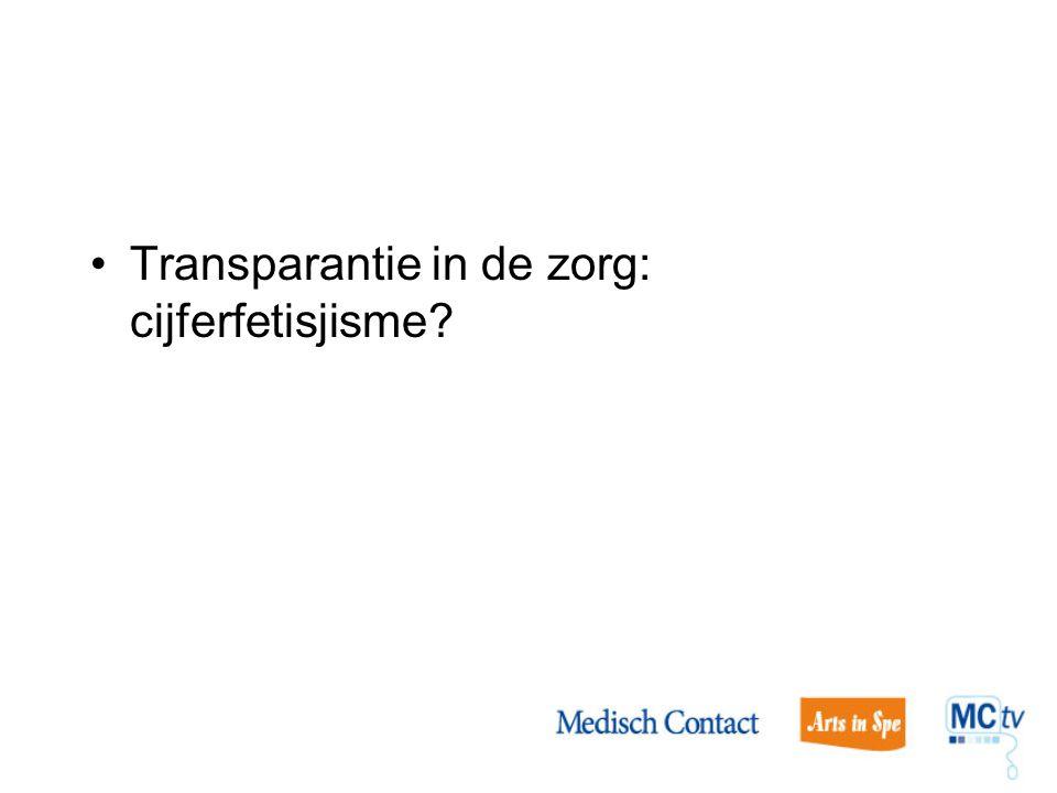 Transparantie in de zorg: cijferfetisjisme