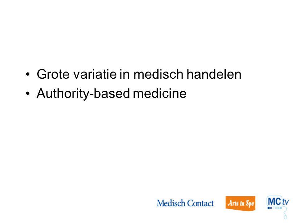 Grote variatie in medisch handelen