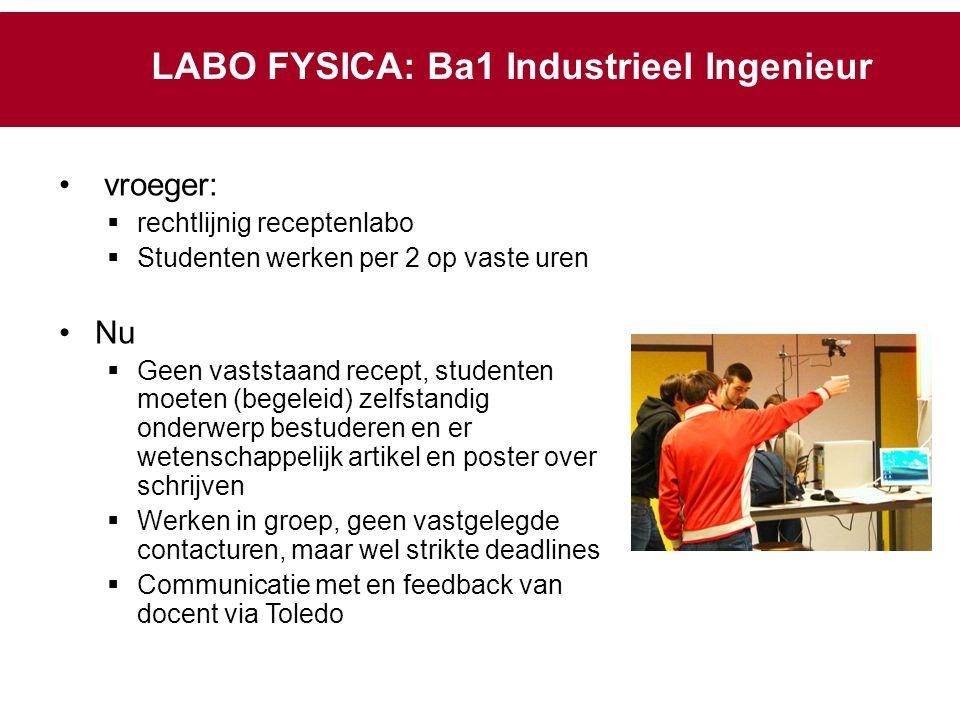 LABO FYSICA: Ba1 Industrieel Ingenieur