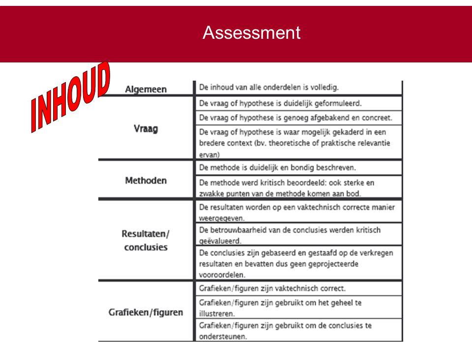 Assessment INHOUD onderzoeken