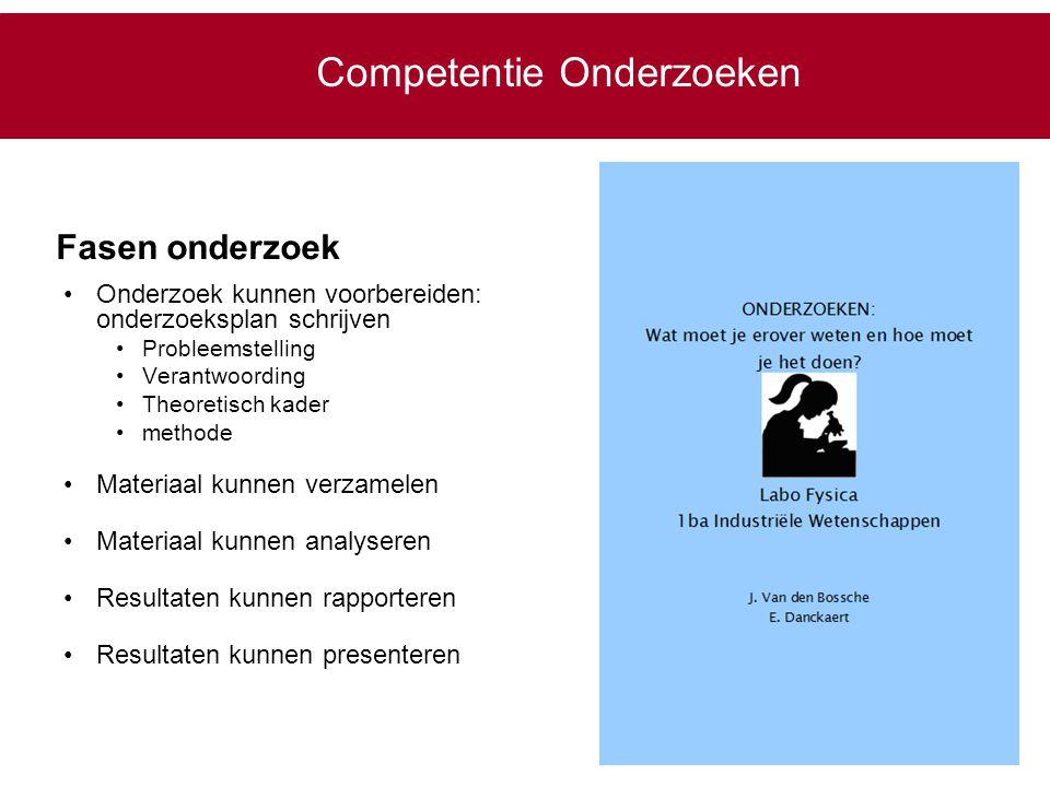 Competentie Onderzoeken