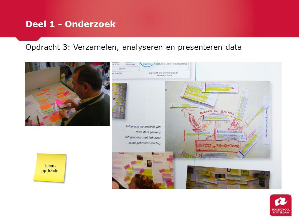 Deel 1 - Onderzoek Opdracht 3: Verzamelen, analyseren en presenteren data Team-opdracht