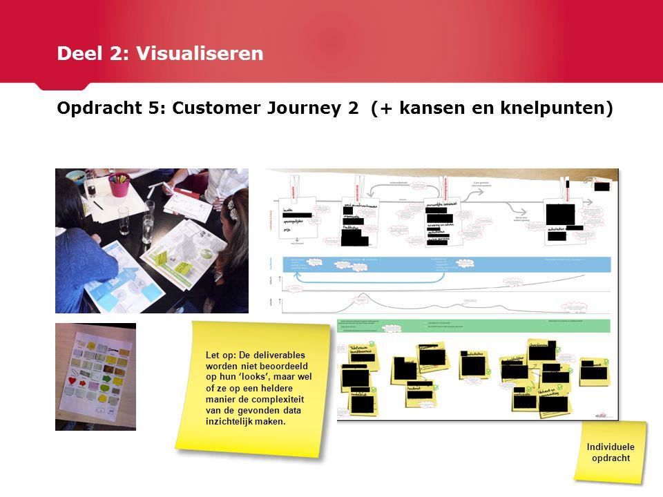 Deel 2: Visualiseren Opdracht 5: Customer Journey 2 (+ kansen en knelpunten)