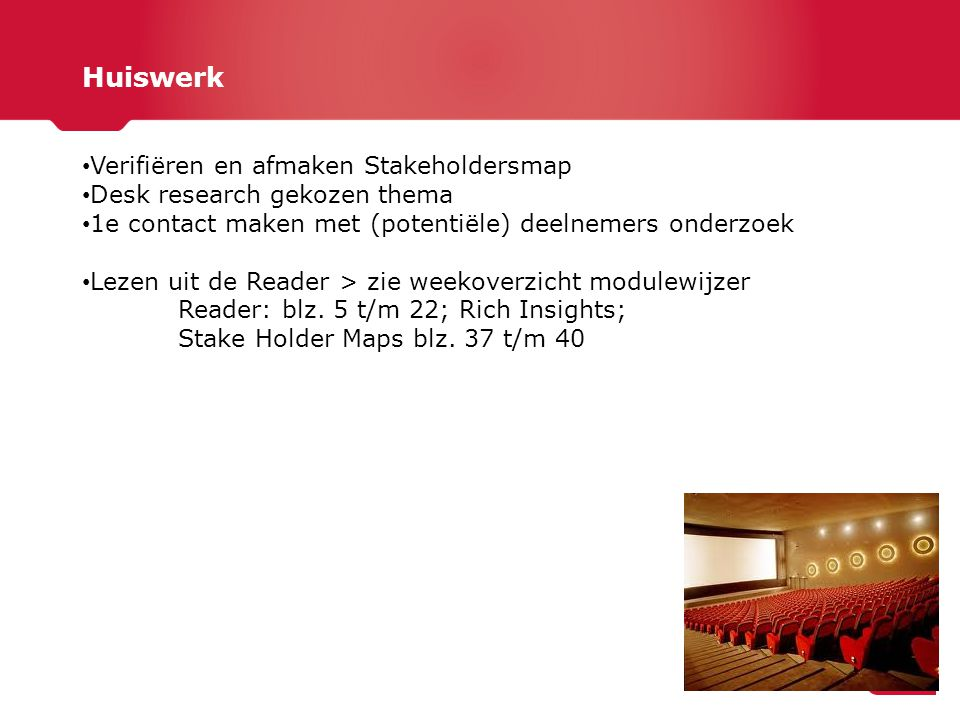 Huiswerk Verifiëren en afmaken Stakeholdersmap