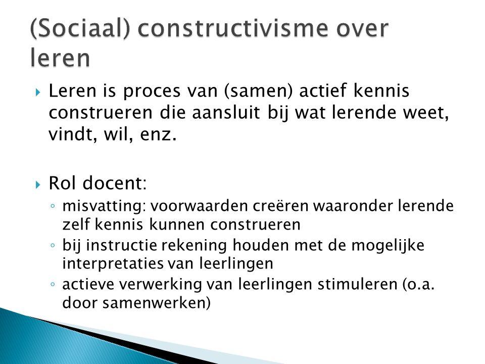 (Sociaal) constructivisme over leren