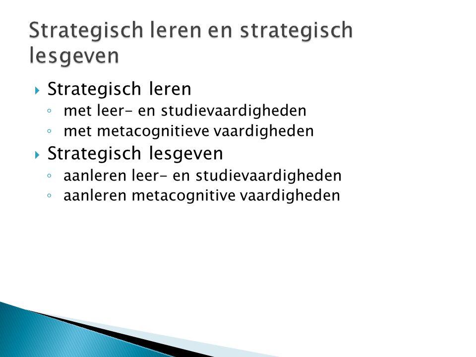 Strategisch leren en strategisch lesgeven