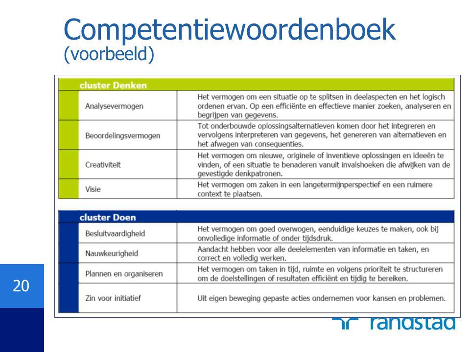 Competentiewoordenboek (voorbeeld)