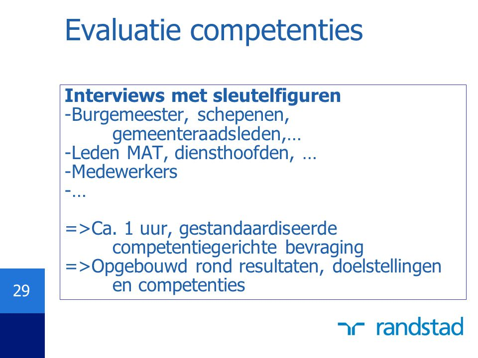 Evaluatie competenties