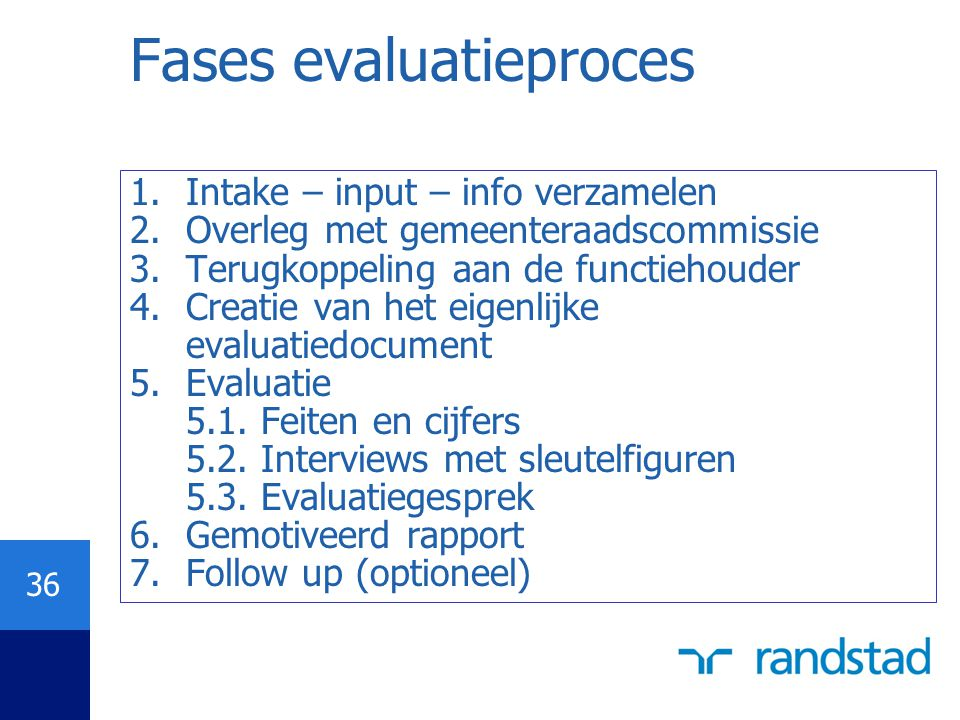 Fases evaluatieproces