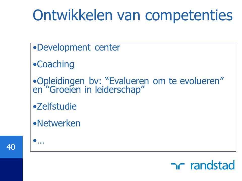 Ontwikkelen van competenties