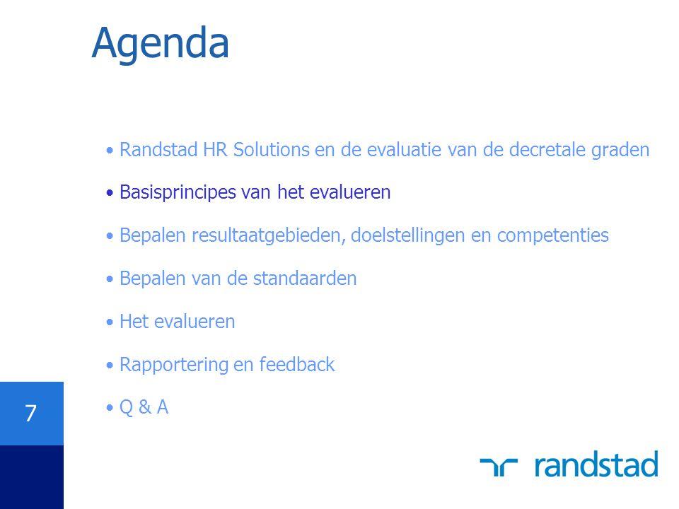 Agenda Randstad HR Solutions en de evaluatie van de decretale graden