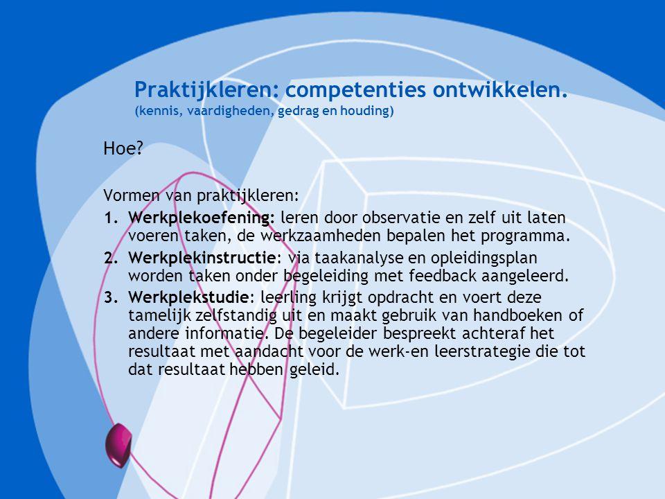 Praktijkleren: competenties ontwikkelen