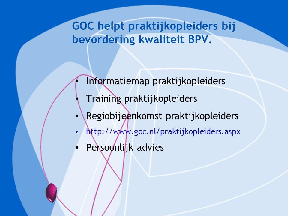 GOC helpt praktijkopleiders bij bevordering kwaliteit BPV.
