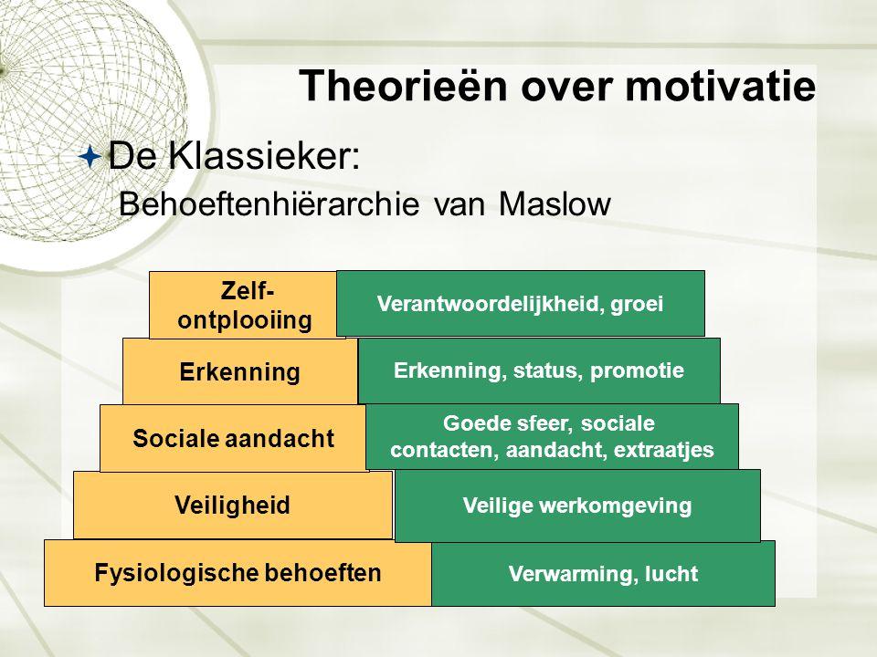 Theorieën over motivatie