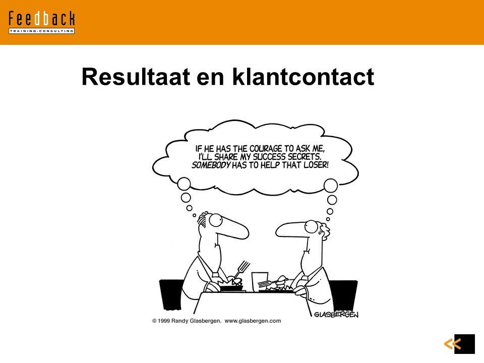 Resultaat en klantcontact