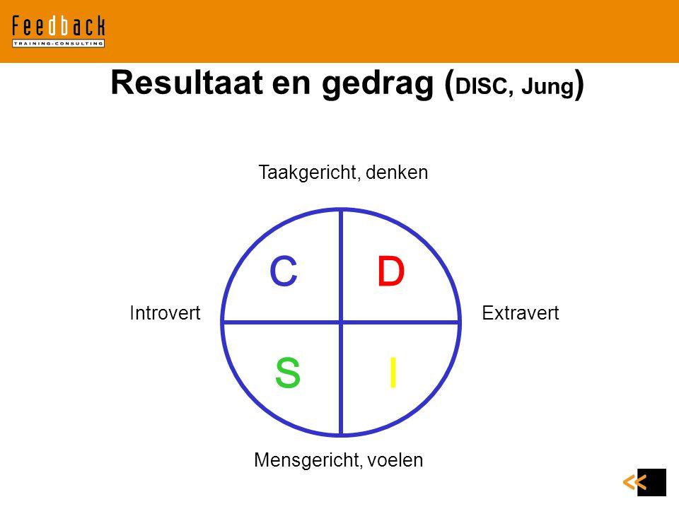 Resultaat en gedrag (DISC, Jung)