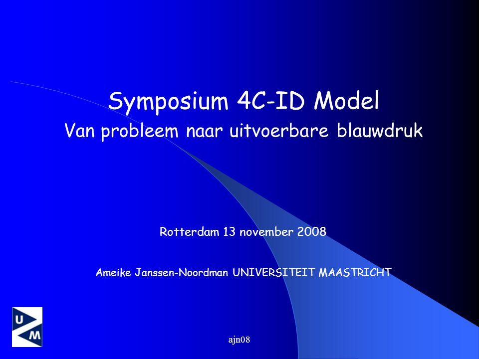 Symposium 4C-ID Model Van probleem naar uitvoerbare blauwdruk
